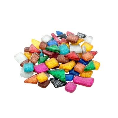 Мозаечна плочка Soft Glas Glitter, микс, 100 g