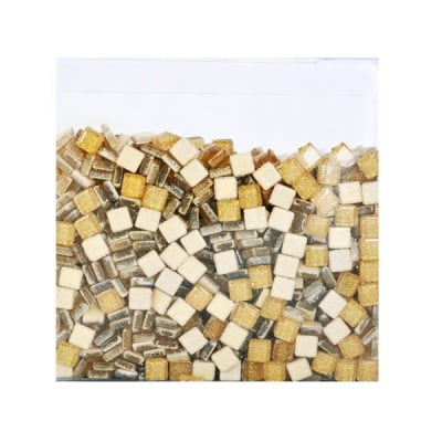 Мозаечни плочки Glitter, стъкло, 10x10x4 mm, 1070 бр.