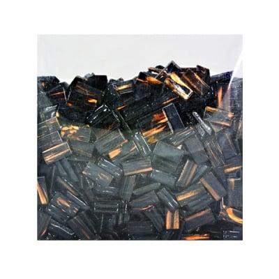 Мозаечни плочки GoldLine, стъкло, 10x20x4 mm, 725 бр., черни