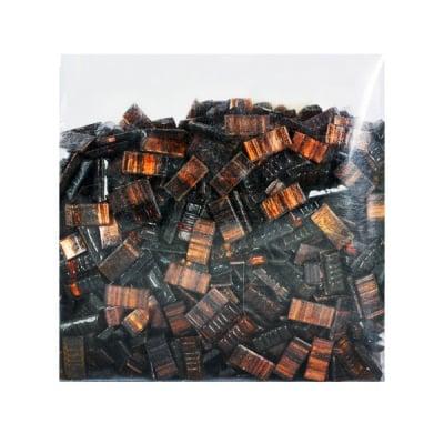 Мозаечни плочки GoldLine, стъкло, 10x20x4 mm, 725 бр., тъмно кафяви