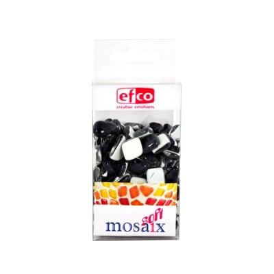 Мозаечни плочки MosaixSoft, стъкло, 25x5 mm, 140 бр., черни