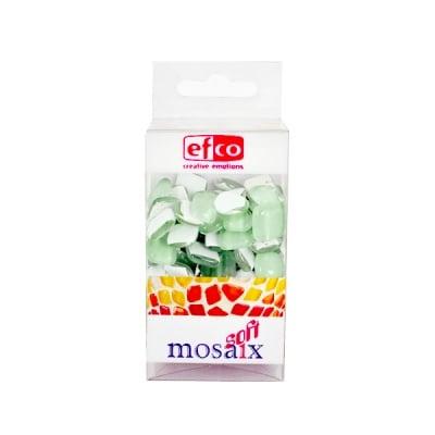 Мозаечни плочки MosaixSoft, стъкло, 25x5 mm, 140 бр., светло зелени