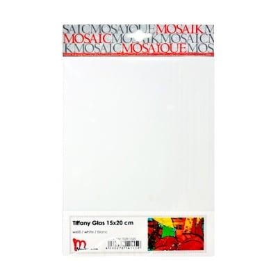 Мозаечни плочки TIFFANY Glass, 150x200x4 mm, 1 бр., бяло