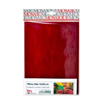 Мозаечни плочки TIFFANY Glass, 150x200x4 mm, 1 бр., червен корал