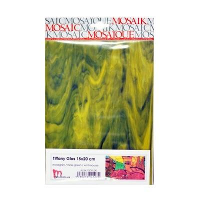 Мозаечни плочки TIFFANY Glass, 150x200x4 mm, 1 бр., мъхово зелено
