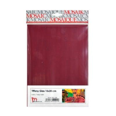 Мозаечни плочки TIFFANY Glass, 150x200x4 mm, 1 бр., рубиненочервено