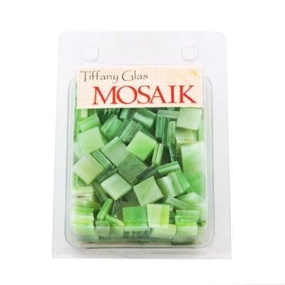 Мозаечни плочки TIFFANY Glass, стъкло, 10x10x4mm, 280 бр., пъпешо вожълто