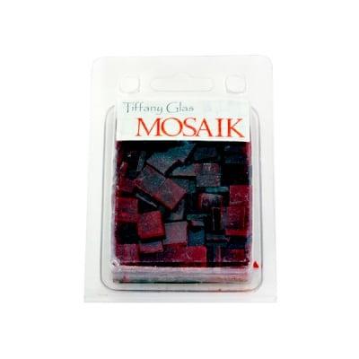 Мозаечни плочки TIFFANY Glass, стъкло, 10x10x4mm, 280 бр., рубиненочервено