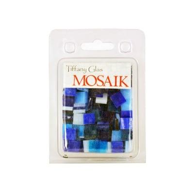 Мозаечни плочки TIFFANY Glass, стъкло, 10x10x4mm, 280 бр., син микс