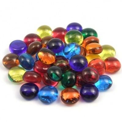 Стъклени камъчета, Glas-Nuggets, 10-12mm; 100g, / 90 бр., микс