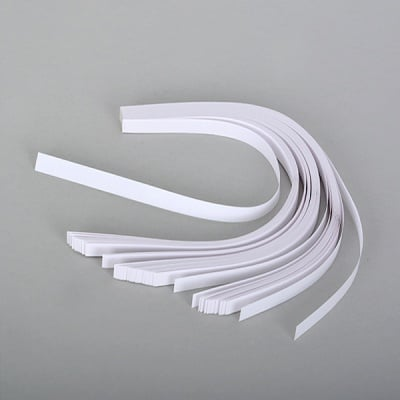 Набор ленти за празнични звезди, 130 g/m2, 1 x 30 cm, 80 л., бели