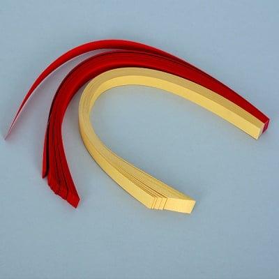Набор ленти за празнични звезди, 130 g/m2, 1 x 30 cm, 80 л., златни/ червени