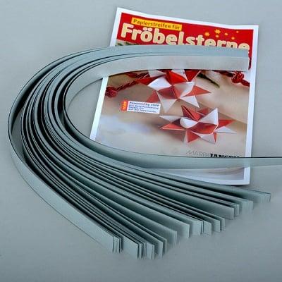 Набор ленти за празнични звезди, 130 g/m2, 1,5 x 45 cm, 80 л., сребърни