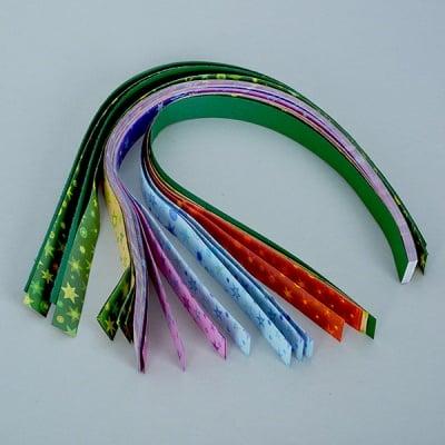 Набор ленти за празнични звезди, 80 g/m2, 1,5 x 45 cm, 80 л., разноцветни