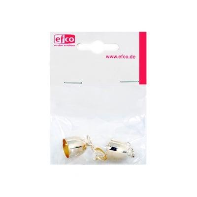 Накрайници със синджирче за регулиране, ф 10 mm, 1 брой, сребристи