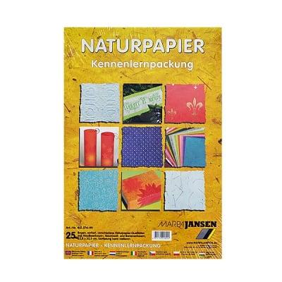 Натурална хартия 22,5 x 32,5сm,  25 бр., различни видове