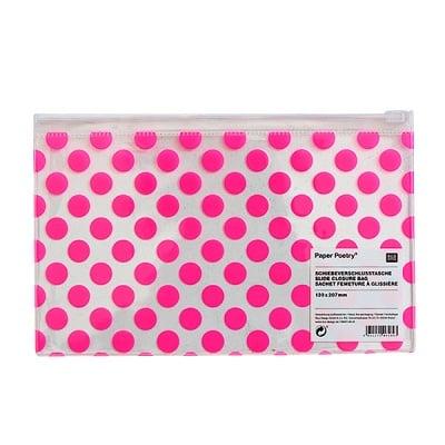 Несесер с цип, 130 х 207 mm, розови точки