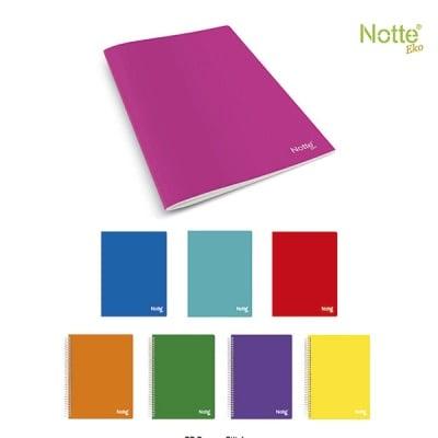 Тетрадка Notte Eko, A4, спирала, PP корица, 100 л., ред, 60 g/m2