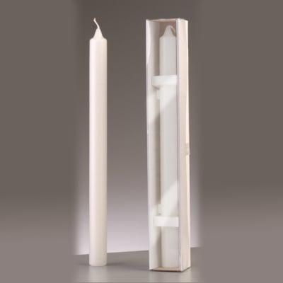 Обредна свещ, ф 30 x H 400 mm, бял