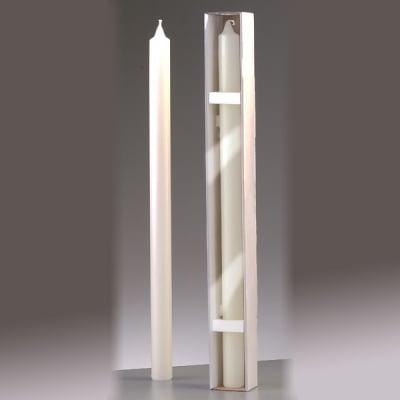 Обредна свещ, ф 30 x H 500 mm, бял