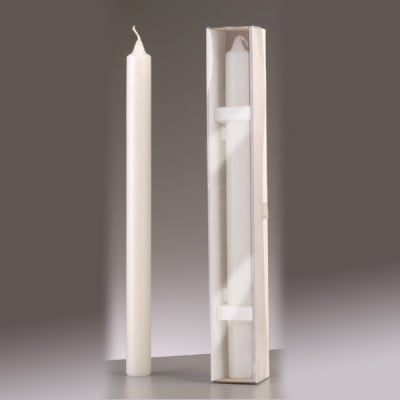 Обредна свещ, ф 40 x H 400 mm, бял