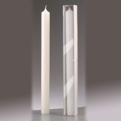 Обредна свещ, ф 40 x H 500 mm, бял