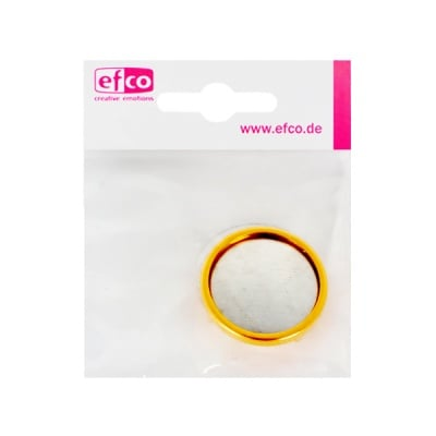 Основа за брошка, кръгла, ф 28 mm, позлатена