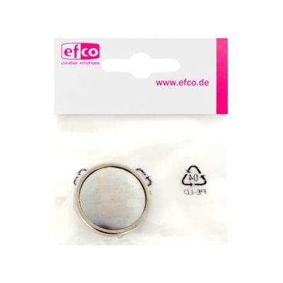 Основа за брошка, кръгла, ф 28 mm, сребриста