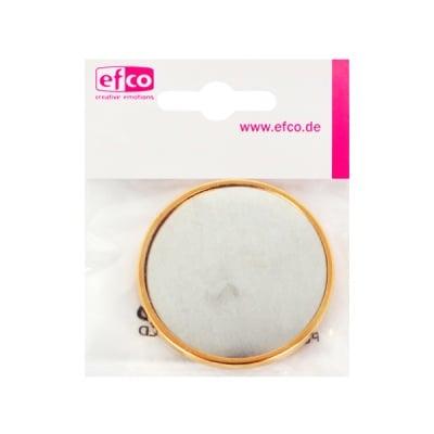 Основа за брошка, кръгла, ф 49 mm, позлатена