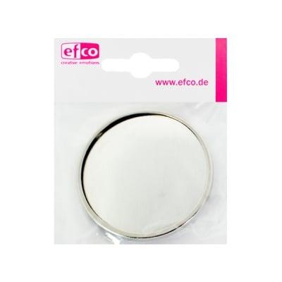 Основа за брошка, кръгла, ф 49 mm, сребриста