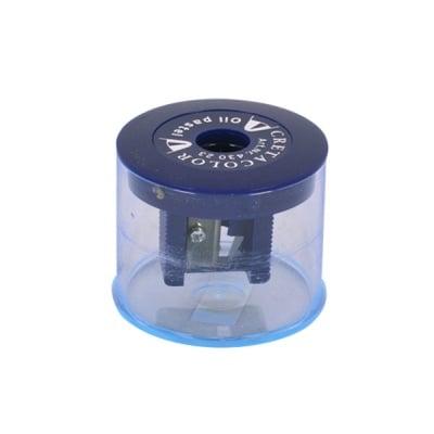 Острилка с контейнер за меки пастели CretaColor, синя