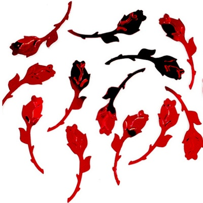 Пайети, Rosa, 27 mm, ~ 1000 бр., червени
