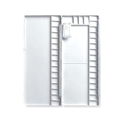 Палитра алуминий PRO, 36 правоъгълни секции, 365 x 155 x 22 mm , бяла