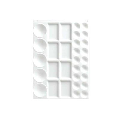 Палитра пластмаса, 23 кръгли и 8 правоъгълни секции