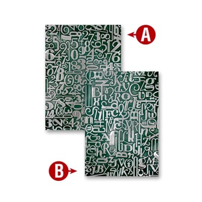 "Папка за релеф върху хартия, ""Числа и букви"", ~12,7 x 17,8 cm"