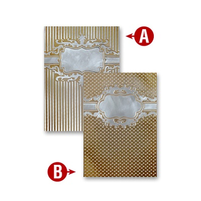 """Папка за релеф върху хартия, """"Framed Petite Labels """" ~ 12,7 x 17,8 cm"""
