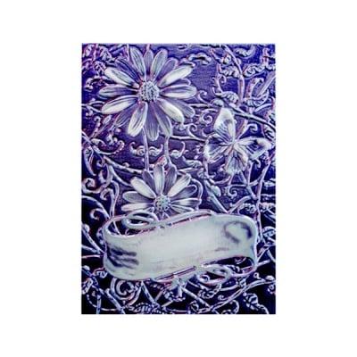"""Папка за релеф върху хартия, """"Маргаритки"""" ~ 12,7 x 17,8 cm"""