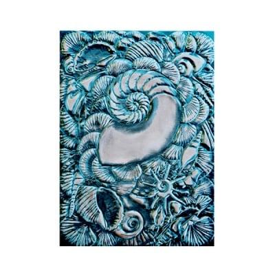 """Папка за релеф върху хартия, """"Мидена красота"""", ~ 12,7 x 17,8 cm"""