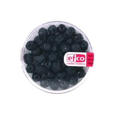 Перли Antik, 6 mm, 40 бр., черни