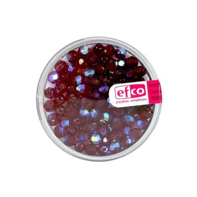 Перли, многостенни, преливащи цветове, 4 mm, 100 бр., гранатов цвят