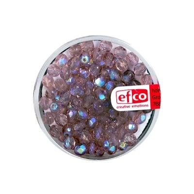Перли, многостенни, преливащи цветове, 4 mm, 100 бр., лилави