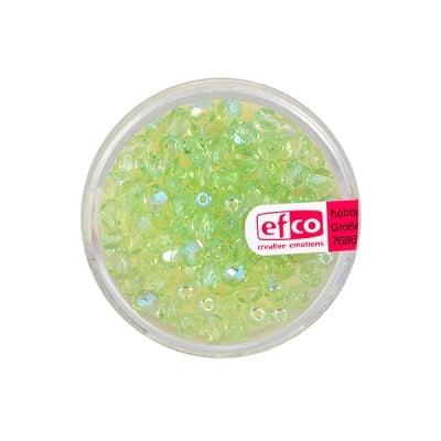 Перли, многостенни, преливащи цветове, 4 mm, 100 бр., светлозелени