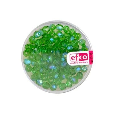Перли, многостенни, преливащи цветове, 4 mm, 100 бр., зелени