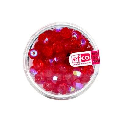 Перли, многостенни, преливащи цветове, 6 mm, 50 бр., червени