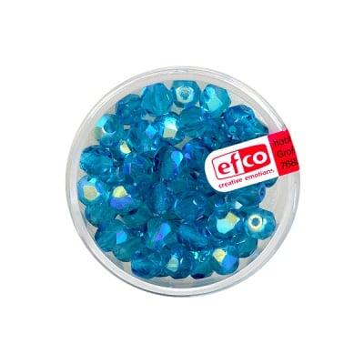 Перли, многостенни, преливащи цветове, 6 mm, 50 бр., тъмносини