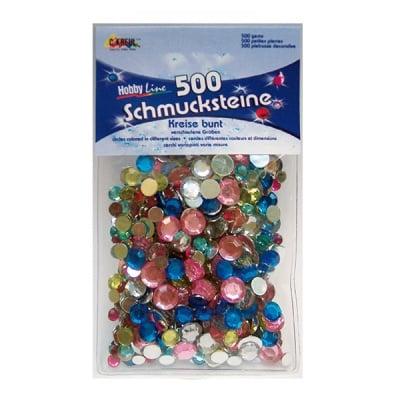 Перли за декорация, кръг, смесени, 500 бр.