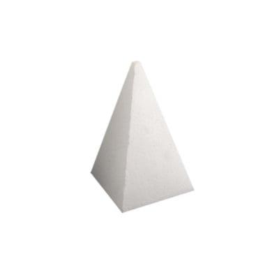 Пирамида от стиропор, бял, H 300 mm