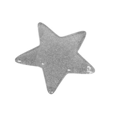 Пластмасова звезда, 4,8 см, сребърна