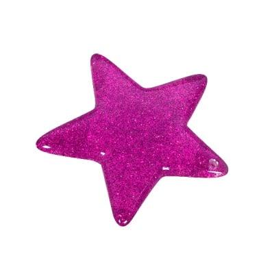Пластмасова звезда, 4,8 см, виолетова