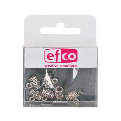 Пластмасови перли, 10 x 10 mm, 6 бр., старо сребро